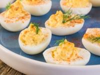 A Acadien Atlantic Deviled Eggs