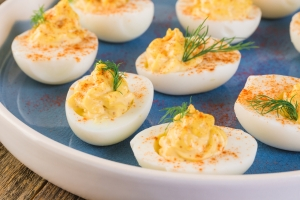 A Acadien Atlantic Deviled Eggs