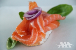 Cold smoked Atlantic salmon (A Acadien Atlantic)