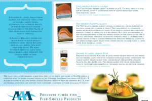 Description A Acadian Atlantic Smoked Atlantic Salmon products, 2012