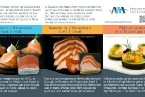 Description A Acadian Atlantic Smoked Atlantic Salmon products, 2013